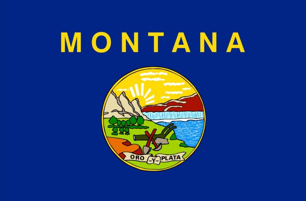 Vlag van de Amerikaanse staat Montana