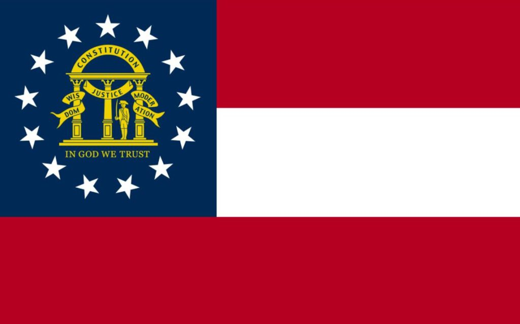 Vlag van de Amerikaanse staat Georgia