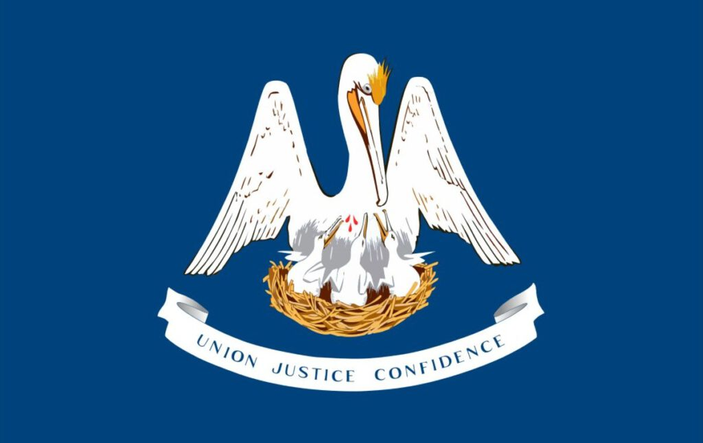 Vlag van de Amerikaanse staat Louisiana
