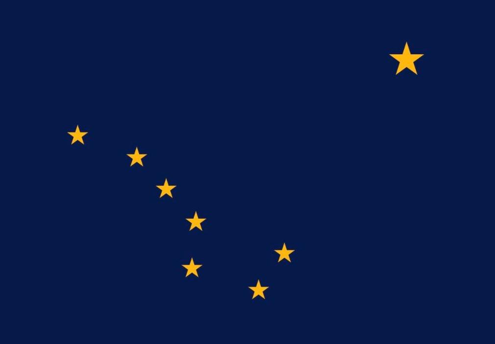 Vlag van Alaska - Amerikaanse staat