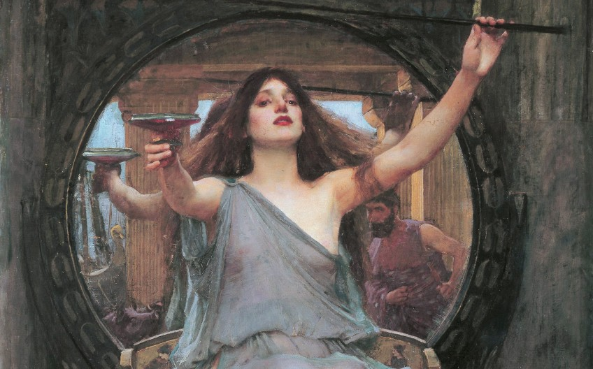 Circe en Odysseus door John William Waterhouse