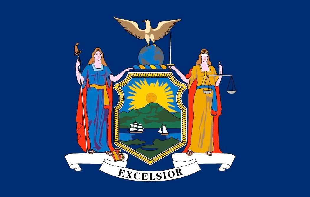 Vlag van de Amerikaanse staat New York