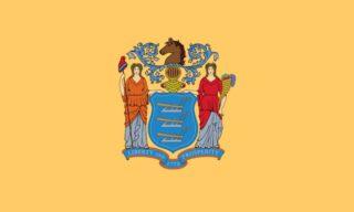New Jersey - Vlag van de Amerikaanse staat
