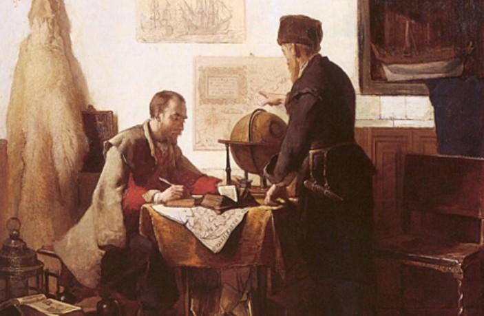 Barentsz en Van Heemskerk door Christoffel_Bisschop 1863