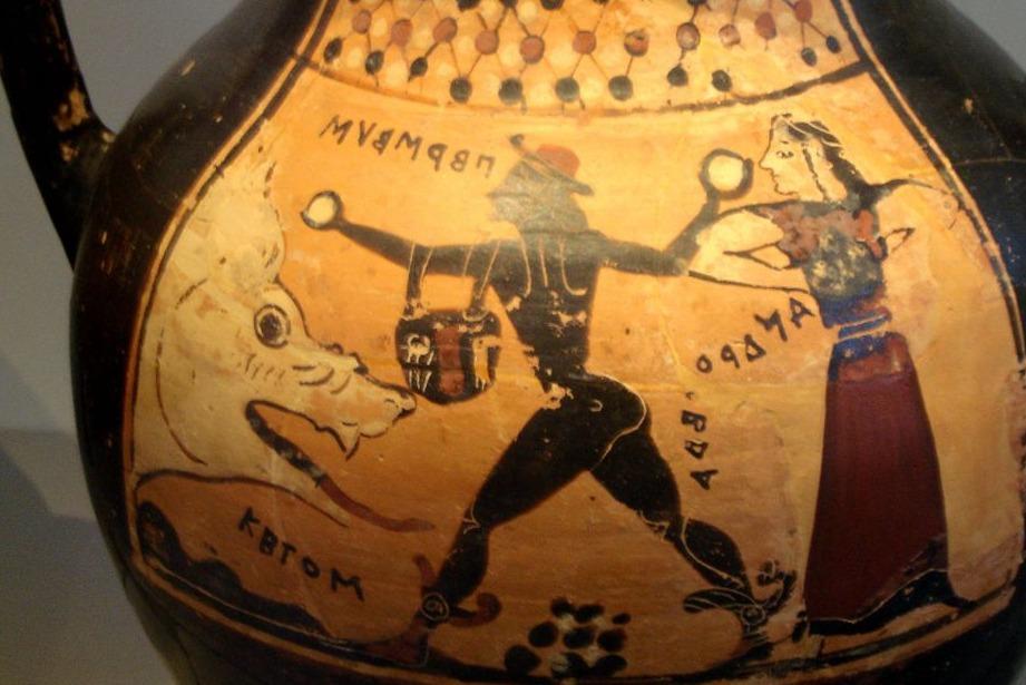 Korinthische vaas met Perseus, Andromeda en Ceto