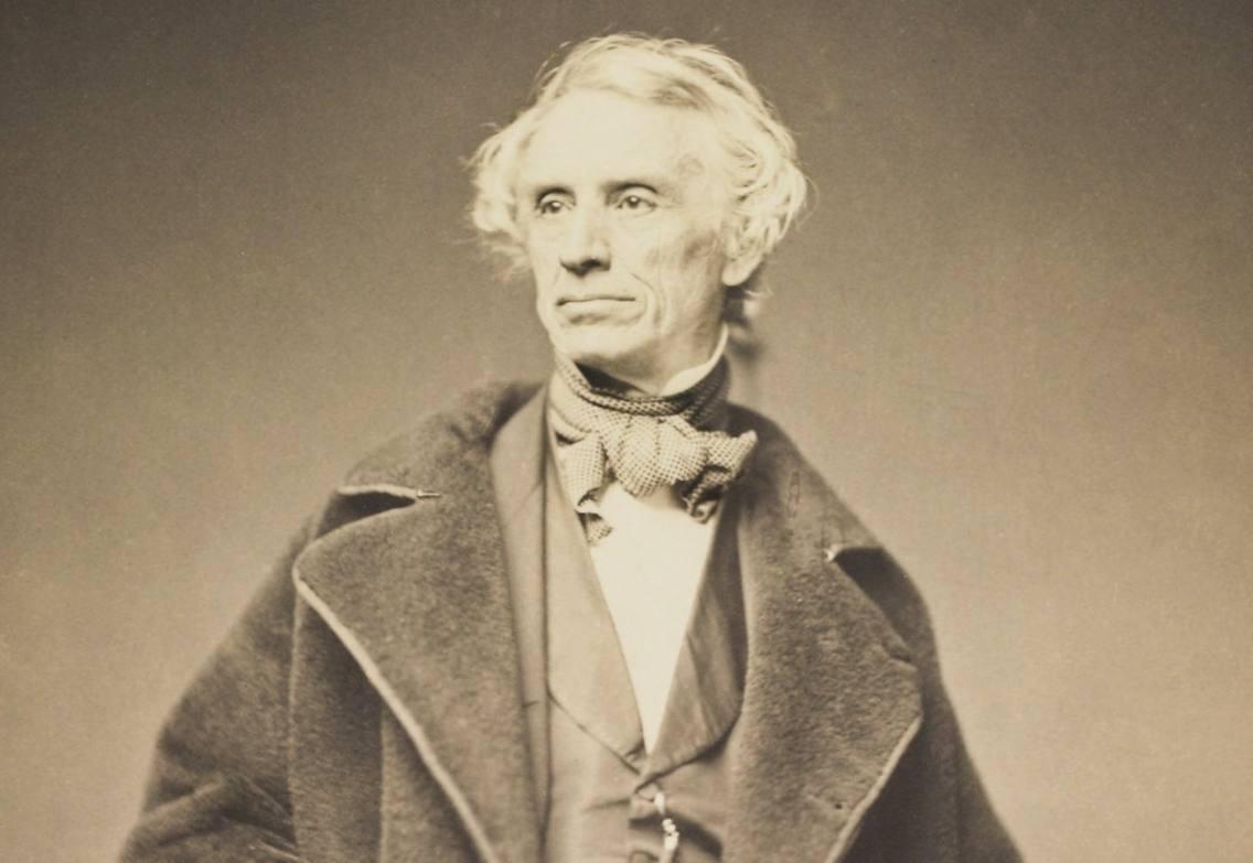 Samuel Morse - Foto gemaakt door Mathew Brady in 1857