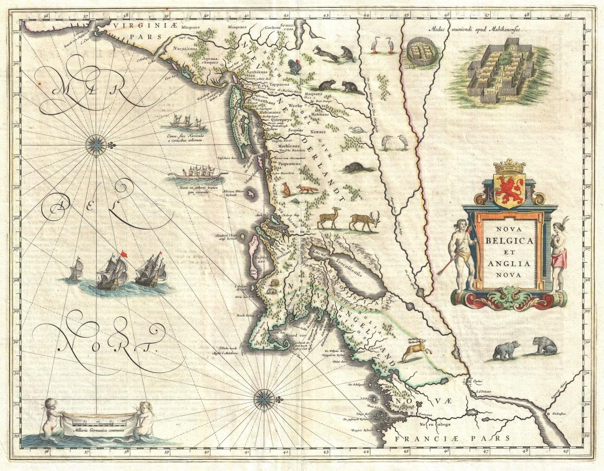 Kaart van New England en New York (1635)