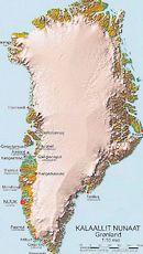 Kaart van Groenland