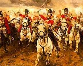 Schilderij van de Slag bij Waterloo