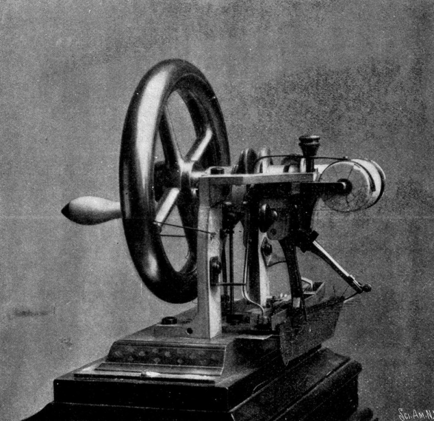 Naaimachine van Elias Howe (Publiek Domein - wiki)