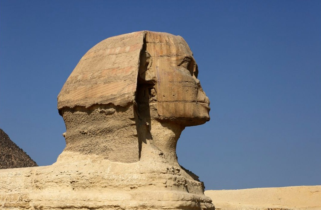 Profiel van de Sfinx van Gizeh