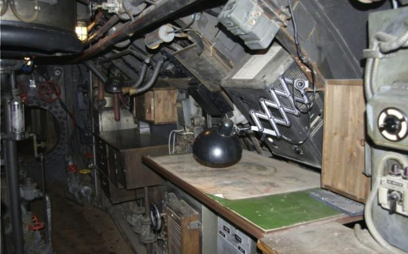Voor 'Das Boot' nagebouwd interieur van een U-boot (CC BY-SA 3.0 - Aconcagua - wiki)
