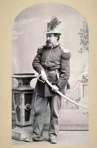 'Keizer' Joshua Norton in uniform (Publiek Domein - wiki)