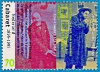 Eduard Jacobs wordt in de jaren '90 geroemd op een postzegel