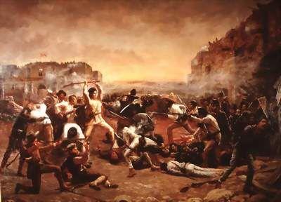 Schilderij van de Slag om de Alamo van Robert Jenkins