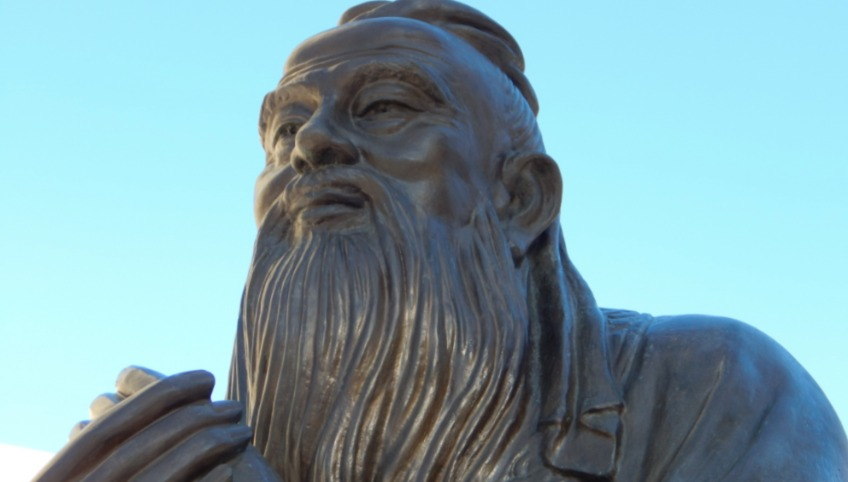 Beeld van Confucius in China - cc