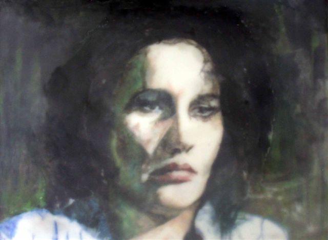 Schilderij met daarop een afbeelding van Anna Goeldi - cc
