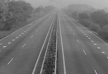 Lege snelwegen tijdens de autoloze zondagen van 1973
