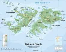 Kaart van de Falklandeilanden