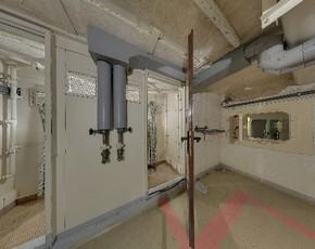 Binnenzijde van de bunker
