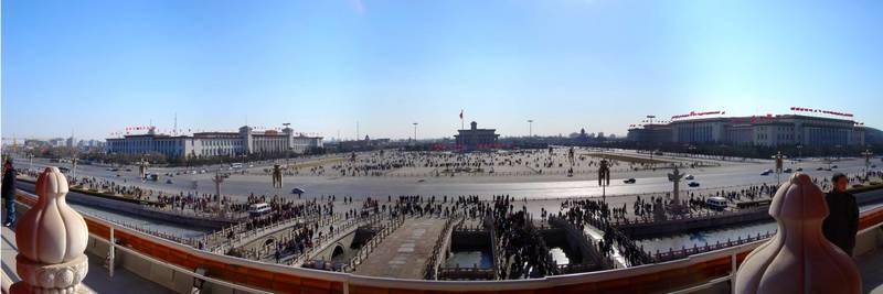 Panorama-foto van het Plein van de Hemelse Vrede