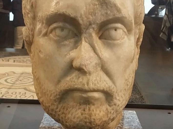 Hoofd van Diocletianus in het Nationaal Museum van Servië