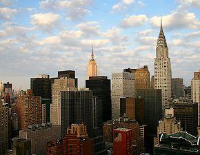 In New York werden tijdens de roaring twenties verschillende wolkenkrabbers gebouwd