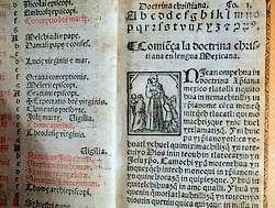Manuscript uit 1553 van Pieter van Gent: Doctrina christiana