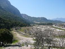 Het slagveld Thermopylae vandaag de dag