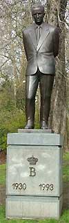 Standbeeld van Boudewijn in Gent