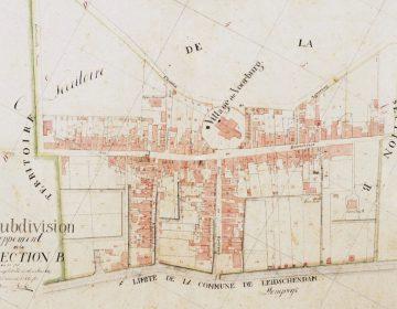 Detail van een kadastrale kaart van Voorburg (Publiek Domein - wiki)