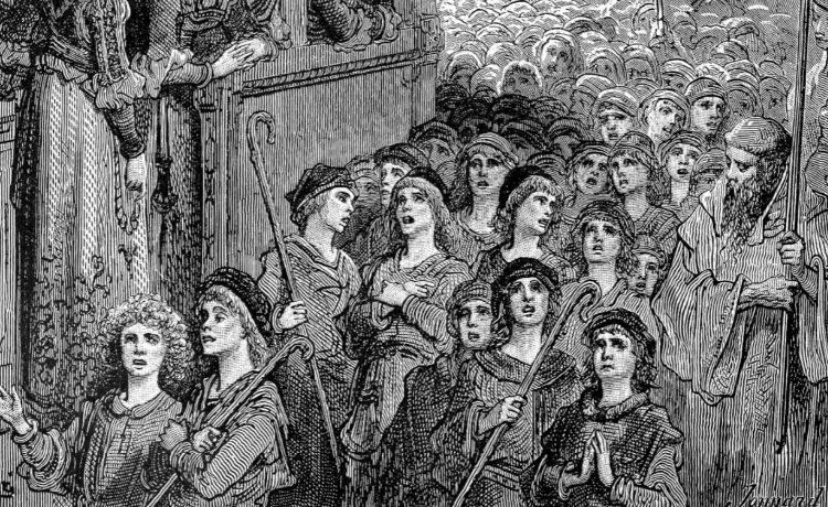 Kinderkruistocht volgens Gustave Doré