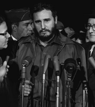 Fidel Castro, kort na zijn machtsovername in 1959