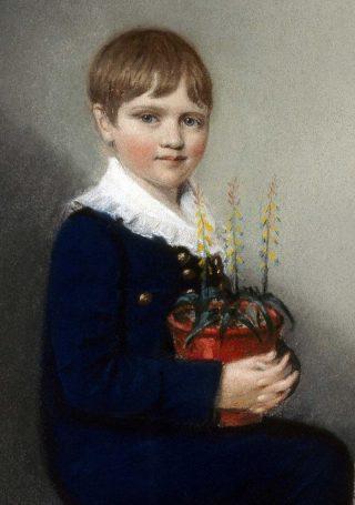 Charles Darwin in 1816, op zevenjarige leeftijd