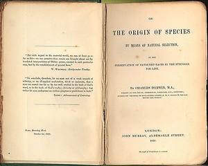 Titelblad van On the Origin of Species, 1859