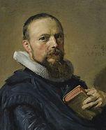 Portret van Samuel Ampzing door Frans Hals (detail)
