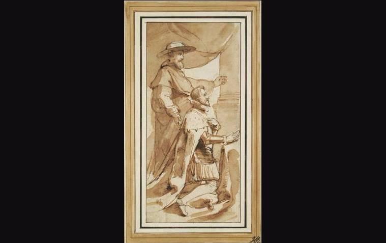 Aartshertog Albrecht met zijn patroonheilige, Albert van Leuven door Rubens (1640).