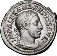 Munt met daarop de beeltenis van Alexander Severus
