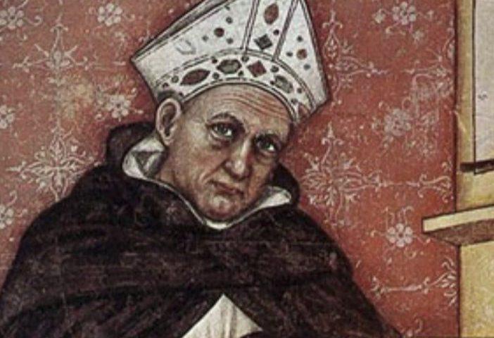 Albertus Magnus, fresco van Tommaso da Modena, Treviso, Italië, 1352 (Publiek Domein - wiki)