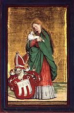 Heilige Agnes - Schilderij van Meister von Meßkirch