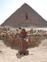 Standbeeld gevonden bij piramides van Gizeh