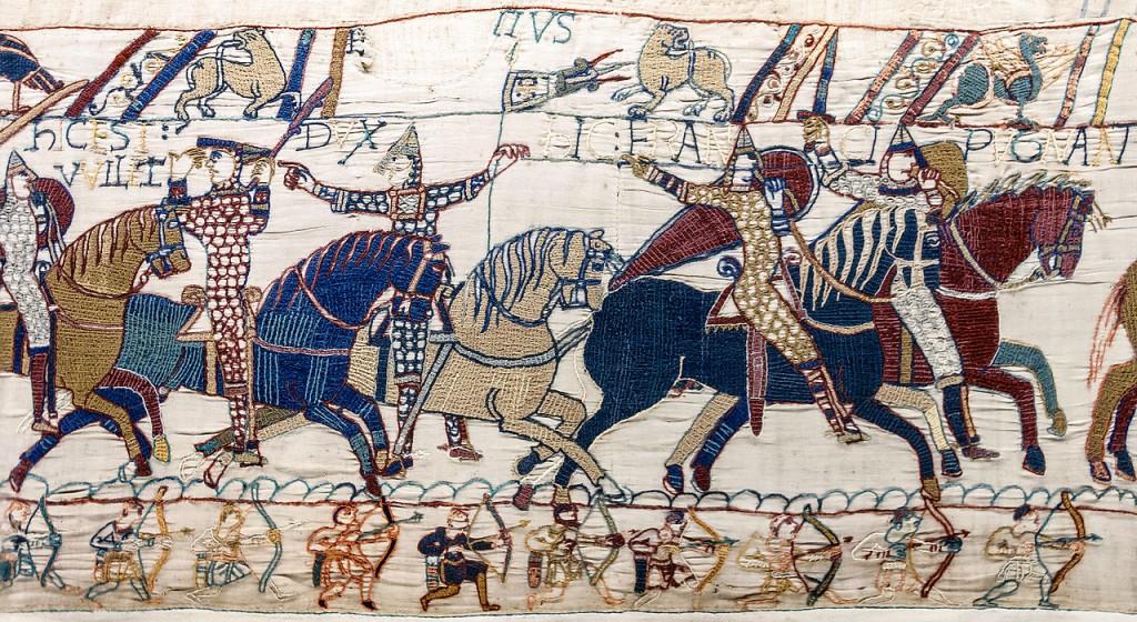 Deel van het tapijt van Bayeux