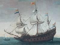 Het schip Mauritius (Hendrick Cornelisz. Vroom, ca. 1600)