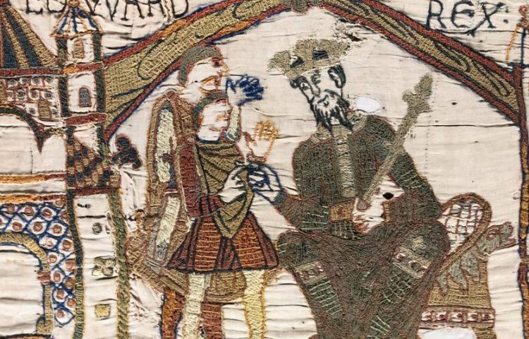 Eduard de Belijder op het tapijt van Bayeux (Publiek Domein - wiki)