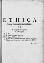 Voorblad van Spinoza's werk Ethica