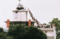 Vluchtende Zuid Vietnamesen