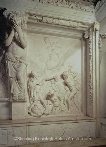 Artus Quellinus, Consul Brutus, 1652, Vierschaar. Bron: Stichting Koninklijk Paleis Amsterdam