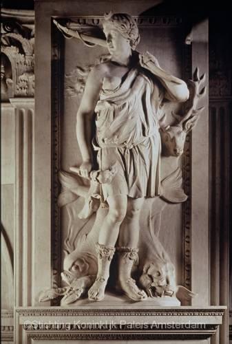 Artus Quellinus, Diana, 1653, zuid-galerij. Bron: Stichting Koninklijk Paleis Amsterdam