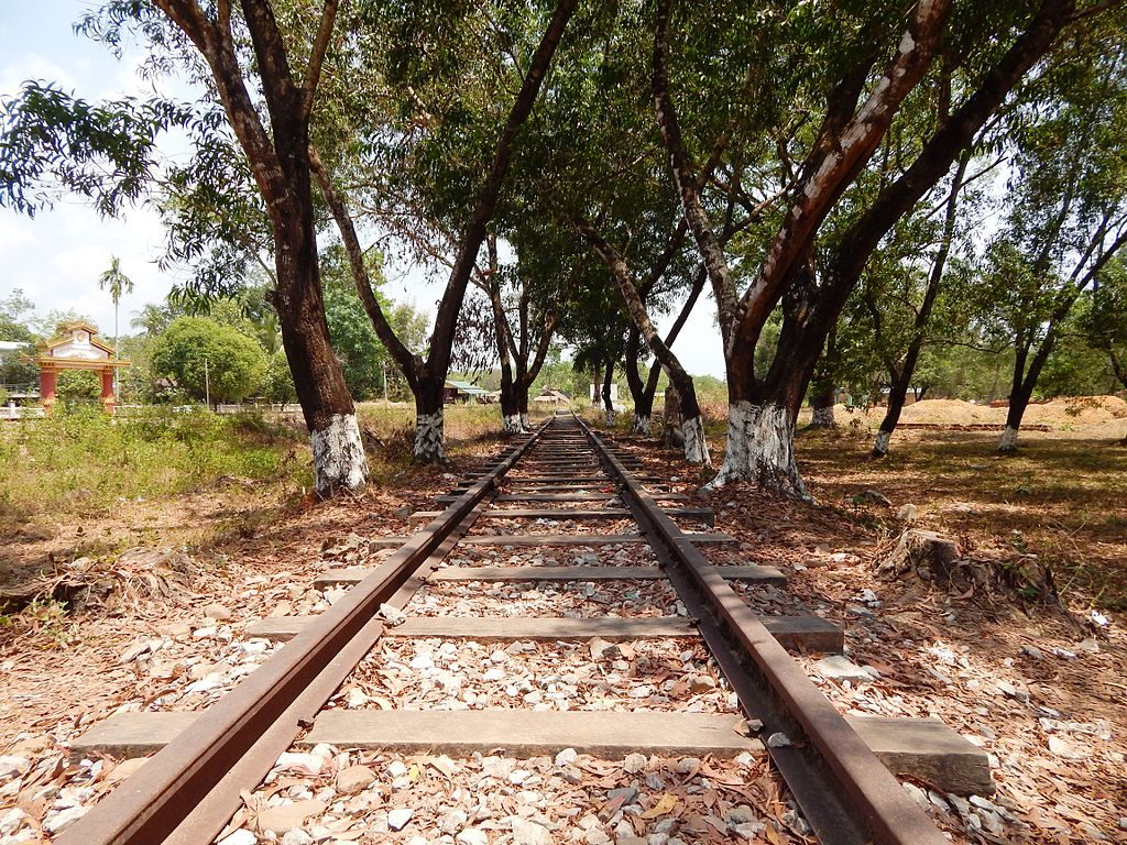 Verlaten deel van de Birma-spoorlijn
