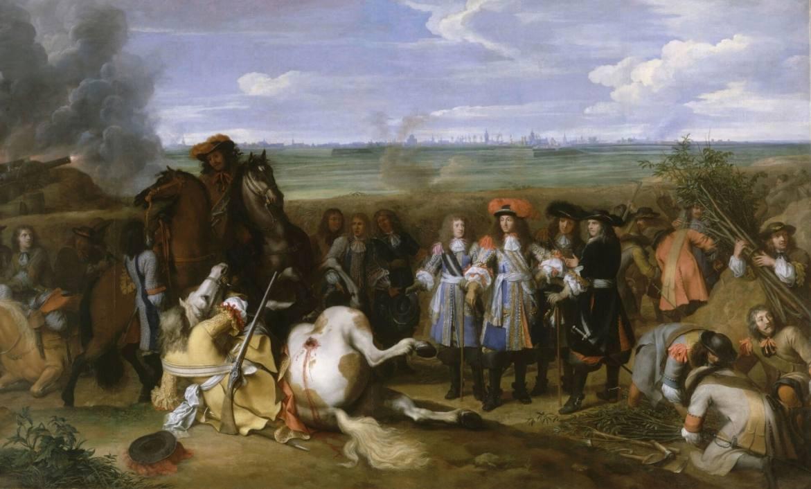 Devolutieoorlog - Lodewijk XIV bezoekt het front